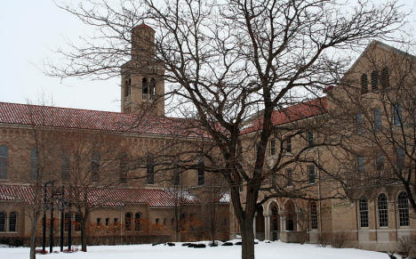 Historic chapel and convent buildings on the former College of Saint Teresa campus in Winona, Minnesota, 2009