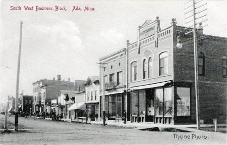 South West Business Block, Ada Minnesota, 1910