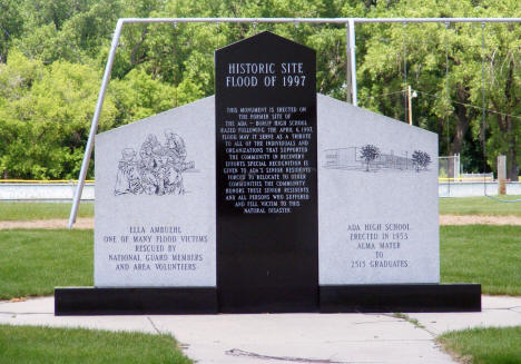 Flood Memorial, Ada Minnesota, 2008