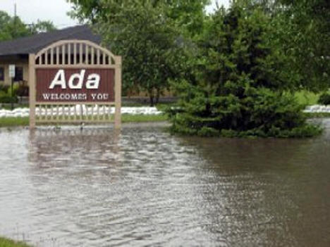 Flooding in Ada, 2002