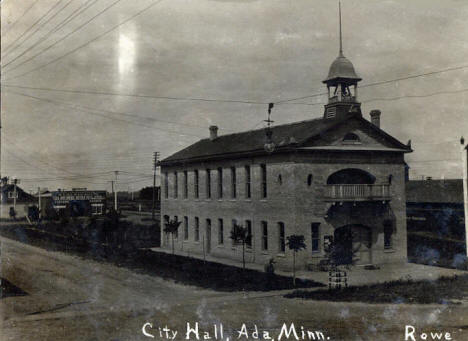 City Hall, Ada Minnesota, 1900's