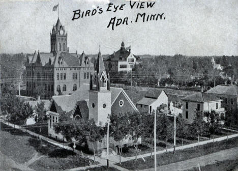 Birds eye view, Ada Minnesota, 1913
