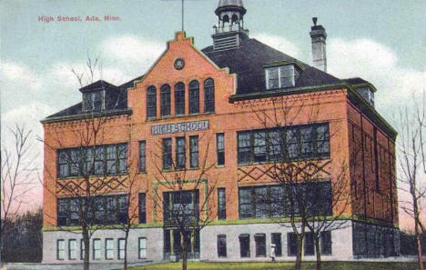 High School, Ada Minnesota, 1910's