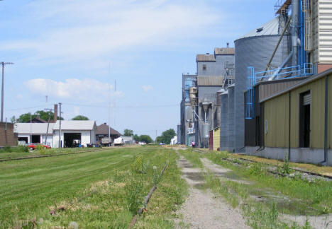 Grain elevators and railroad tracks, Ada Minnesota, 2008