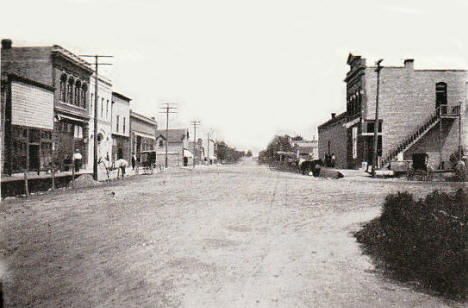 Fourth Street, Adams Minnesota, 1912