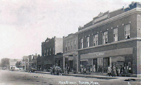 Main Street, Adams Minnesota, 1917