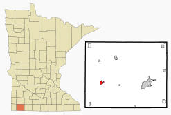 Location of Adrian, Minnesota