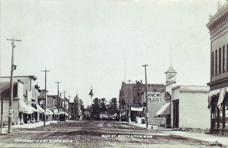 Main Street South, Aitkin Minnesota, 1910