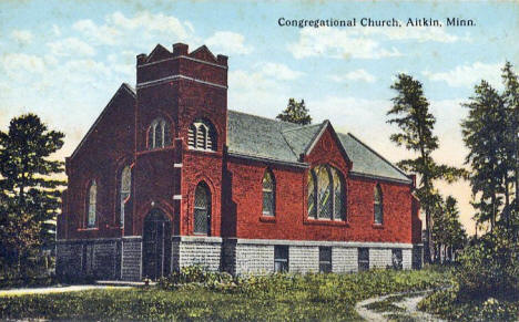 Congregational Church, Aitkin Minnesota, 1910's