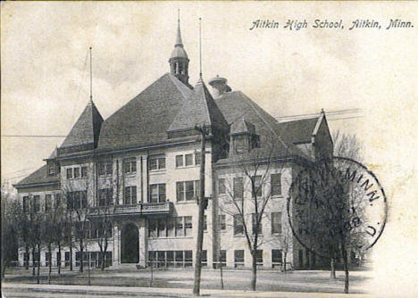 Aitkin High School, Aitkin Minnesota, 1908