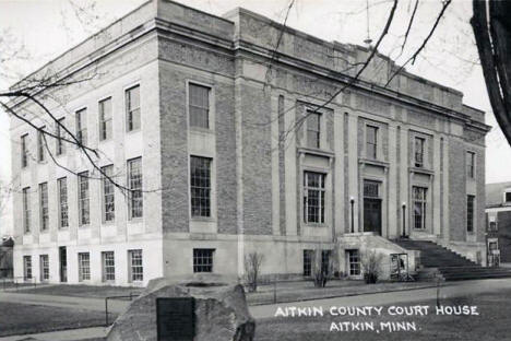 Aitkin County Court House, Aitkin Minnesota, 1950's