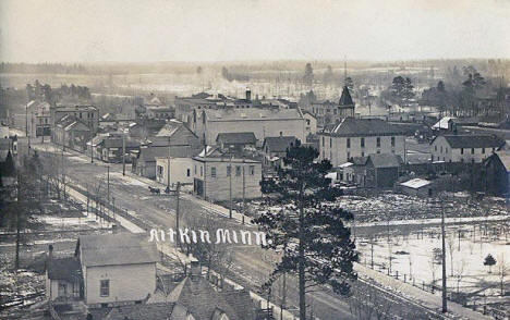 Birds eye view, Aitkin Minnesota, 1909