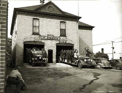 Fire department, Aitkin Minnesota, 1950