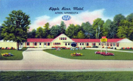 Ripple River Motel, Aitkin Minnesota, 1950's?