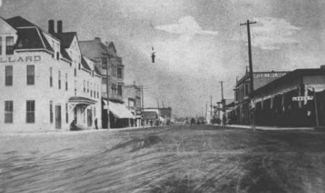 4th Street in Aitkin Minnesota, 1890's