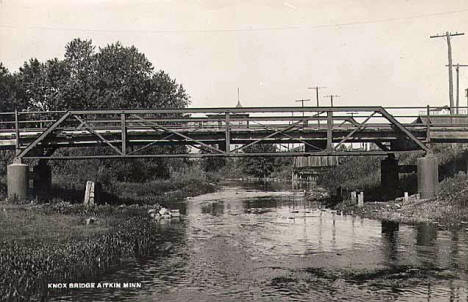 Knox Bridge, Aitkin Minnesota, 1920