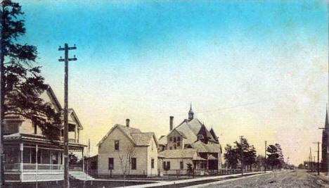 Ash Street looking east, Aitkin Minnesota, 1909