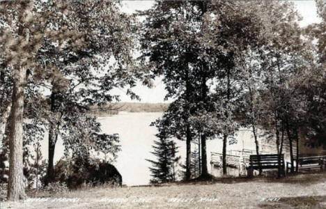 Moore Springs Resort on Howard Lake, Akeley Minnesota, 1940