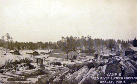 Camp 6, Red River Lumber Company, Akeley Minnesota, 1908