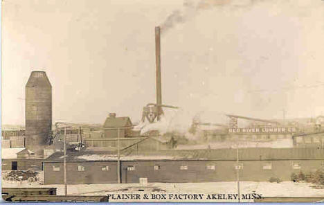 Red River Lumber Company's Plainer & Box Factory in Akeley Minnesota, 1912