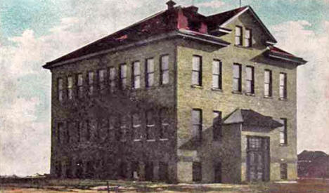Akeley High School, Akeley Minnesota, 1908
