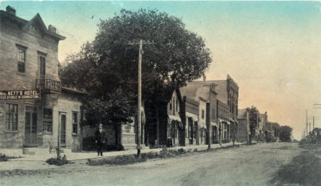 Railroad Avenue, Albany Minnesota, 1920
