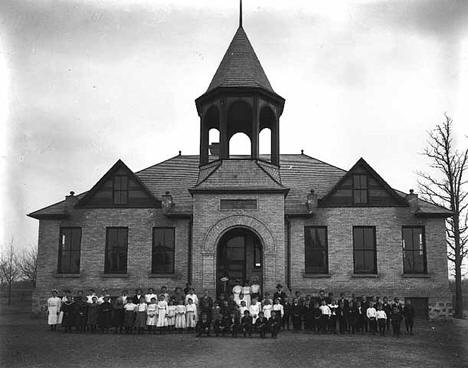 District School Number 98, students and teachers, Albany Minnesota, 1910
