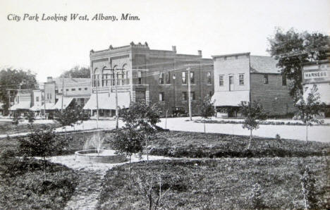 City Park looking west, Albany Minnesota, 1910
