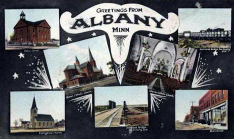 Multiple scenes, Albany Minnesota, 1910