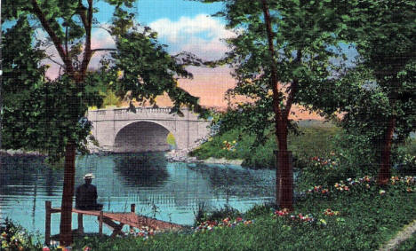 Hatch Bridge, Albert Lea Minnesota, 1940's