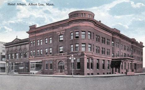 Hotel Albert Lea Minnesota 1916
