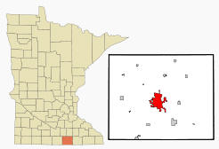 Location of Albert Lea Minnesota