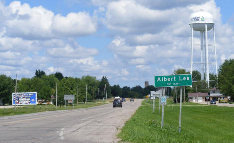 Entering Albert Lea Minnesota on Highway 69, 2010