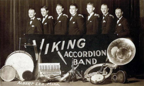 Viking Accordion Band, Albert Lea Minnesota, 1932