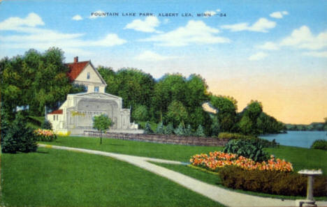 Fountain Lake Park, Albert Lea Minnesota, 1940's