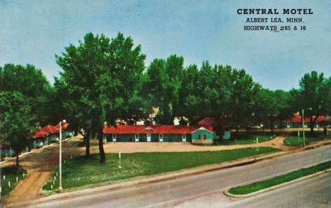 Central Motel, Albert Lea Minnesota, 1950's