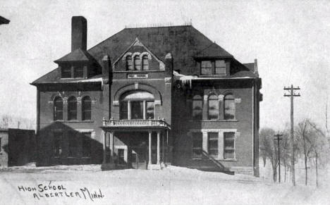 High School, Albert Lea Minnesota, 1912
