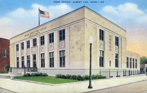 Post Office, Albert Lea Minnesota, 1940's