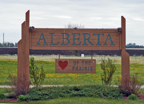 Alberta Minnesota Welcome Sign, 2008