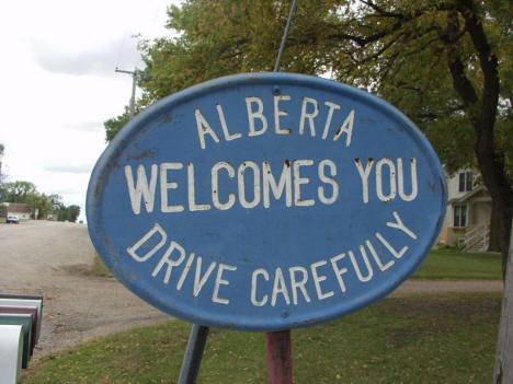 Alberta Minnesota Welcome Sign, 2006