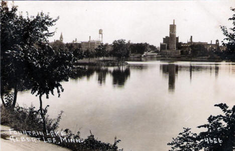 Fountain Lake, Albert Lea Minnesota, 1910's