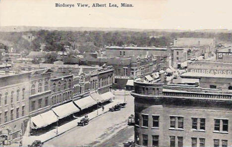 Birds Eye View, Albert Lea Minnesota, 1910's