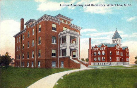Luther Academy and Dormitory, Albert Lea Minnesota, 1910's