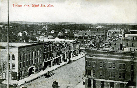 Birds Eye View, Albert Lea Minnesota, 1909