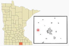 Location of Alden Minnesota