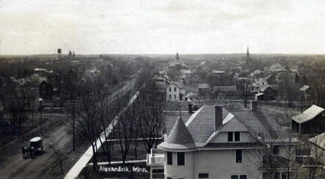 General view of Alexandria Minnesota, 1907