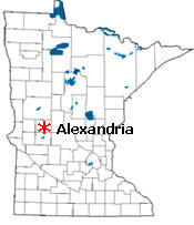 Location of Alexandria Minnesota