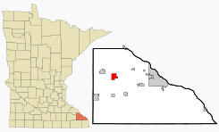 Location of Altura, Minnesota