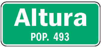 Altura Minnesota population sign