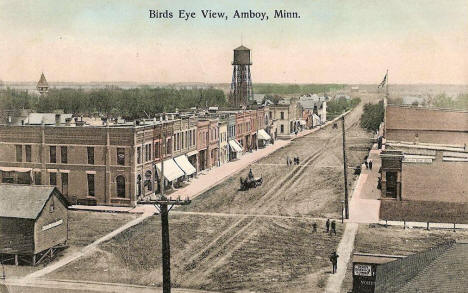 Birds eye view, Amboy Minnesota, 1908